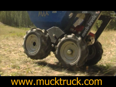 wheel barrow, motorized wheelbarrow, muck truck, mucktruck
