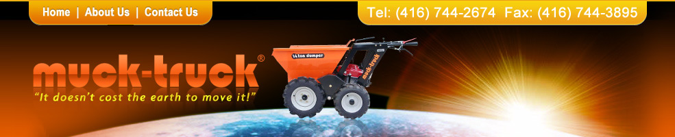 Muck-Truck Power barrows, motorized wheelbarrow, construction equipment, construction machinery